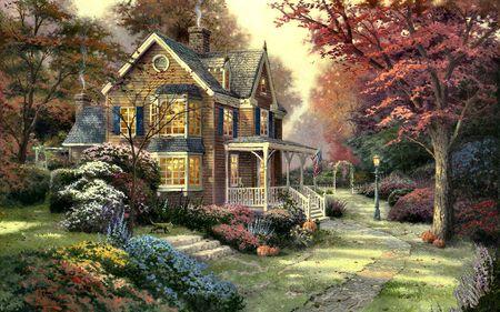 Victorian Autumn by Thomas Kinkade 5b28fc01240d6f7ccb0cf4d014f43a46