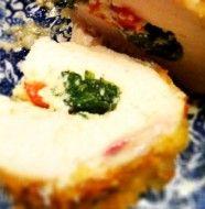 Ricotta, Spinach, Tomato & Basil Stuffed Chicken-