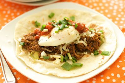 Eggs Barbacoa- a tasty Mexican breakfast and a great way to use up all ...