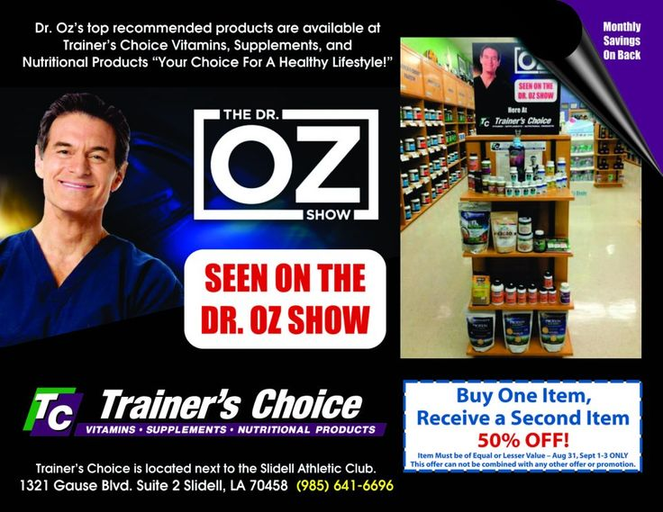 NATURAL vitamins, herbs, and supplements recommended on the DOCTOR OZ