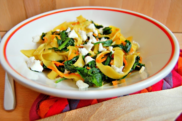 Spinach and Goat Cheese Pasta | FOOD IDEAS | Pinterest