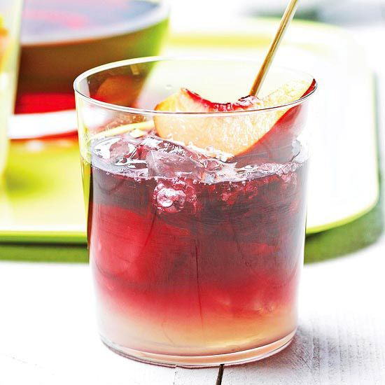 Combine ruby-red wine and limeade for this Sunset Sangria. Recipe: http://www.bhg.com/recipe/drinks/sunset-sangria/?socsrc=bhgpin060812