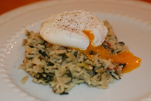 Creamy Orzo With Swiss Chard And Poached Eggs Recipe — Dishmaps