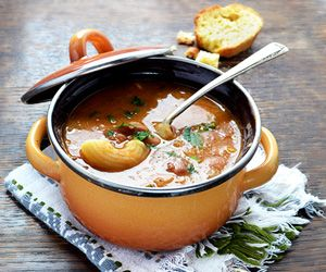 Pasta e Fagioli. Hearty pasta and beans soup.