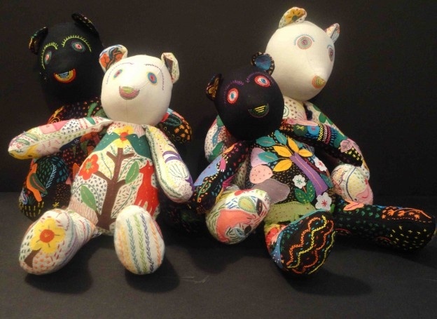True care bears - made by Heartworks, an organization of women artisans in Africa – many genocide survivors and all supporting their families with this work.