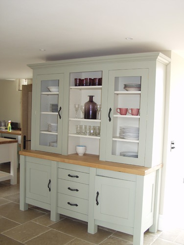 Pin by mary corridan on kitchen dressers cabinets for Traditional kitchen dresser