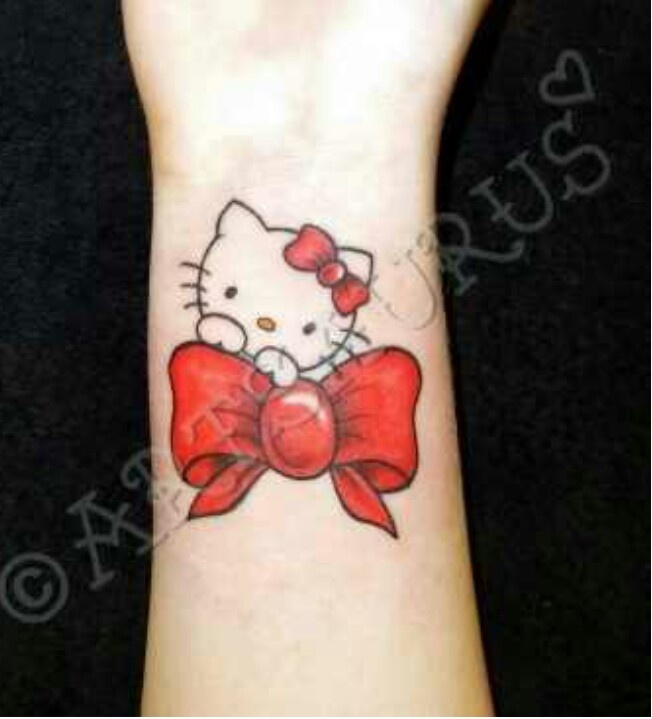 Hello Kitty Bow Tattoo Foot Hello Kitty on Bow tat...
