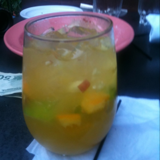 Also made with Cachaca Rum! Ingredients are: oranges, apples, limes ...