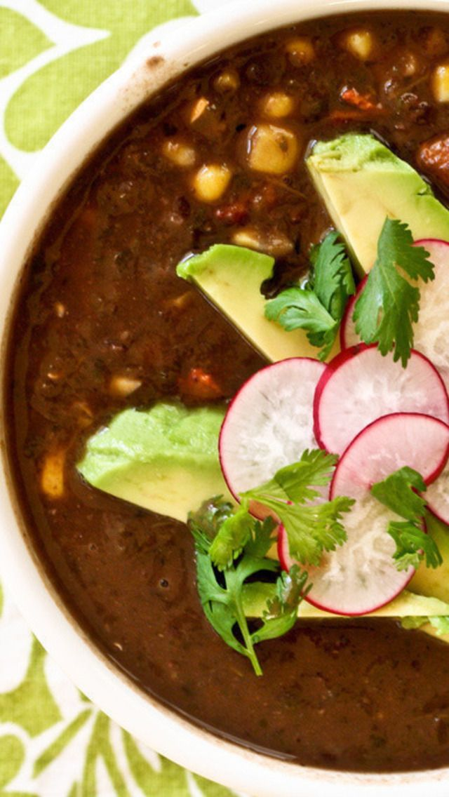 Poblano And Bacon Bountiful Black Bean Soup Recipes — Dishmaps