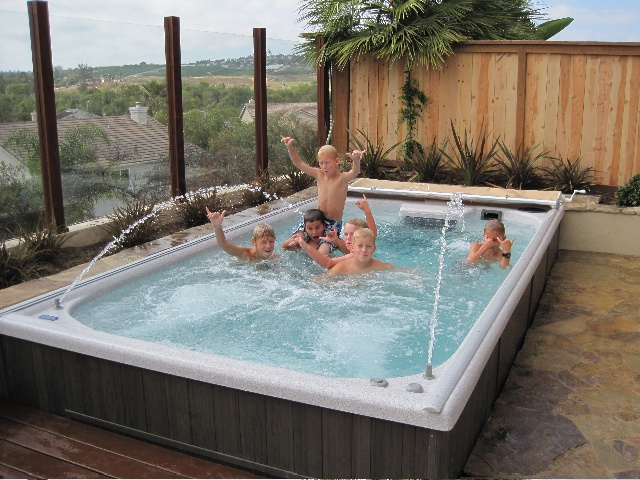 Endless pool swim spa hmmmm garden design ideas for Swimming pool spa designs