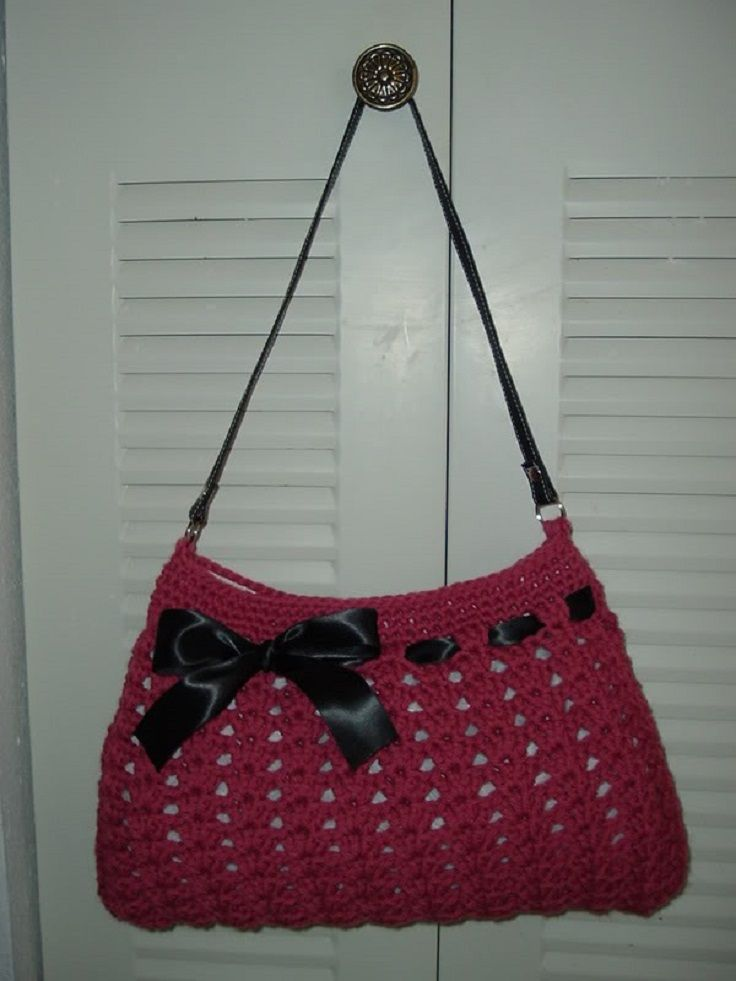 7 Free Gorgeous Crochet Bag Patterns Yarn Art Pinterest