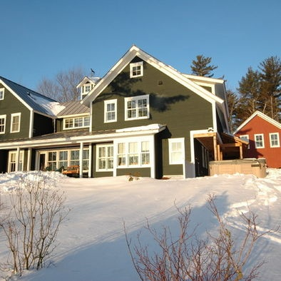 Dark green house exterior houses pinterest for Dark green exterior paint