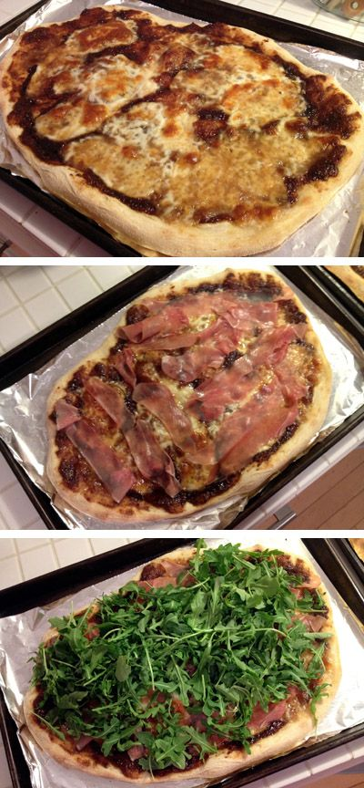 Fig-Prosciutto Pizza with Arugula | Satisfy The Craving | Pinterest
