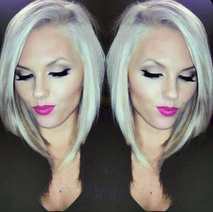 long angled bob hairstyles brunette | Beautyyy | Pinterest