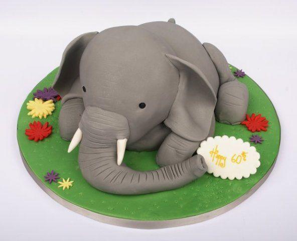 Elephant Cake Designs : Elephant Cake, cute 3D Tasty Treats Pinterest