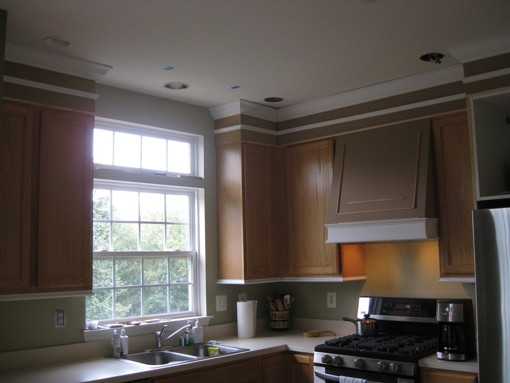 Adding molding to kitchen cabinets kitchen pinterest for Adding decorative molding to kitchen cabinets