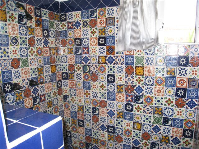 Talavera bathroom in blue for the home pinterest - Bathroom tiles talavera ...