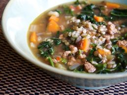 ... Culinate (#283478) Brown Rice And Lentil Soup with Dark Leafy Greens