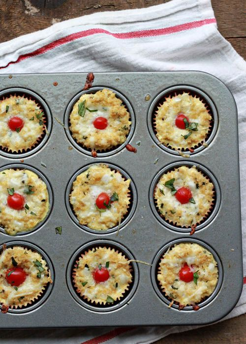 ... Margherita Quinoa Frittatas (with Cherry Tomatoes, Fresh Basil, and