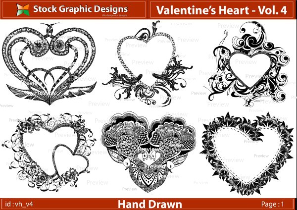 Valentine Heart with Wings Clip Art