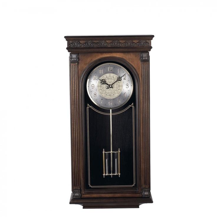 bulova laurien pendulum wall clock c4469