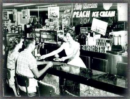 Old fashioned soda shop blast from past memories that for Old fashioned pharmacy soda fountain
