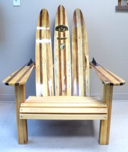 how to make adirondack chairs from water skis
