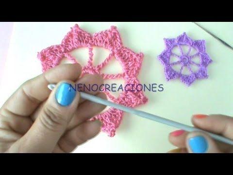 como hacer flores de crochet