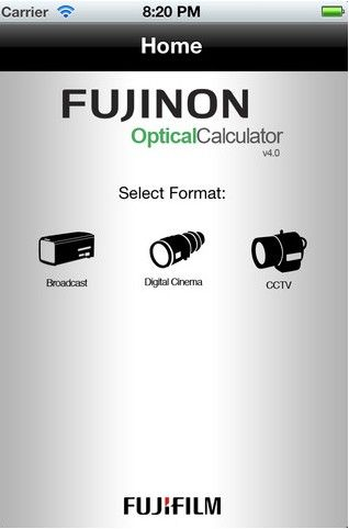FREE Fujinon OptCal App for Calculating Depth of Field & More