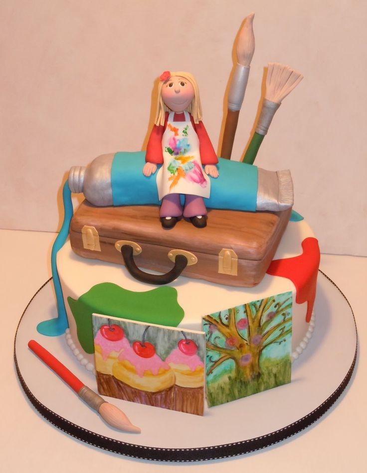 Cake Art Design School : Art themed cake Artistry Pinterest