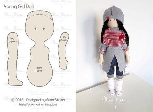 Кукла выкройки в натуральную величину фото