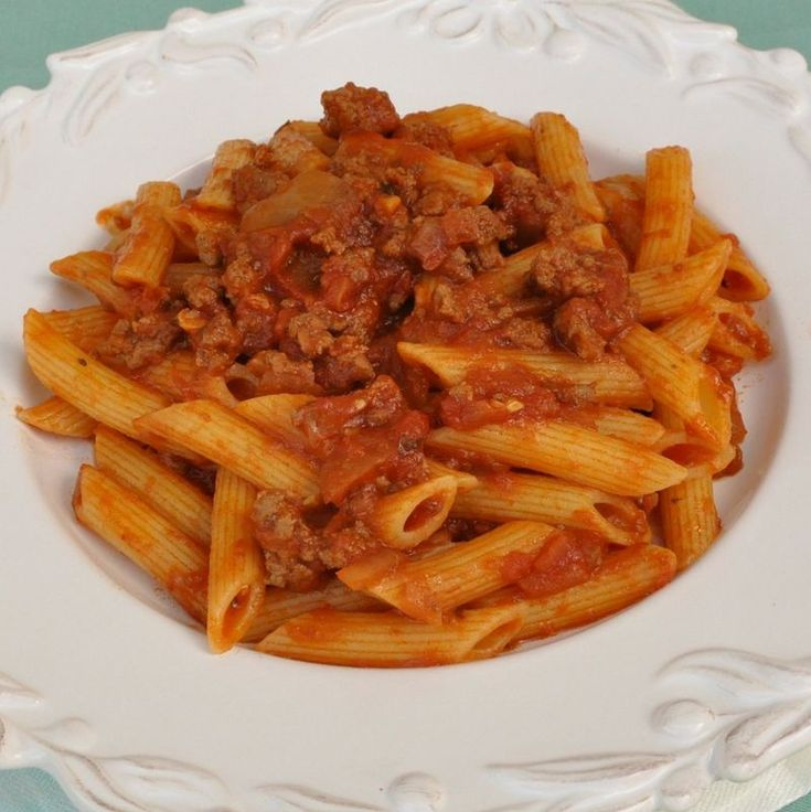 Penne with Meat Ragu | Buon Appetito! | Pinterest