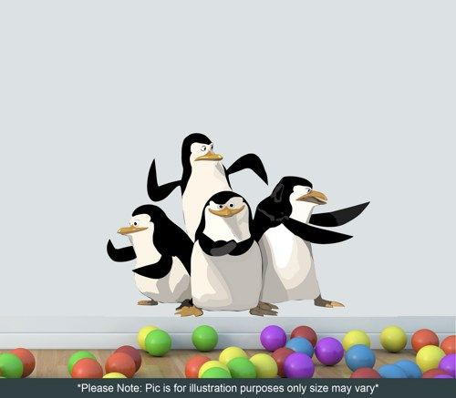 madagascar penguins wall decal full colour wall sticker sticker wall deco madagascar 4 alex marty gloria king