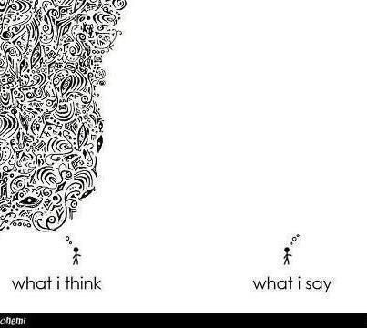 Thinking vs. saying - introverts