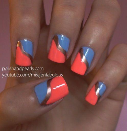 Easy Nail Art - Polish and Pearls   Nails Nails Nails!   Pinterest