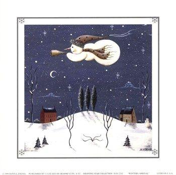 Flying Snowman | Holidays: Christmas - Snowmen | Pinterest