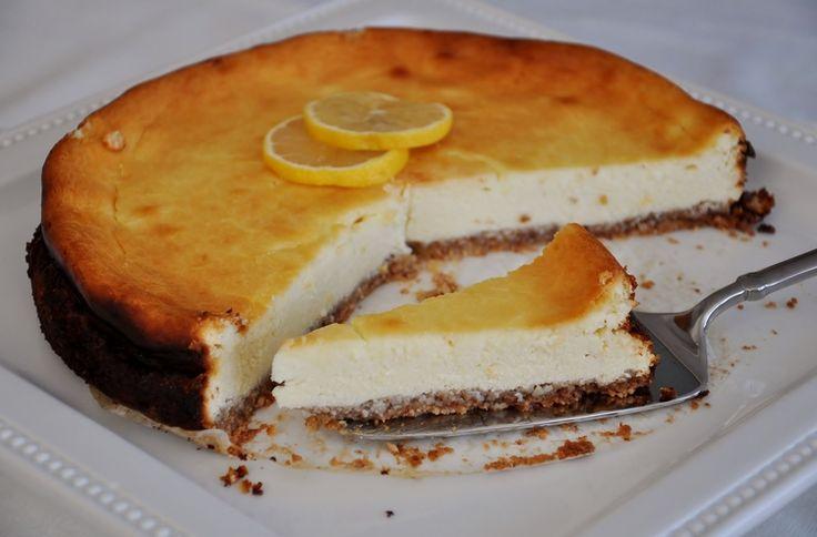 Lemon (Goat Cheese) Cheesecake #glutenfree #dessert #goatcheese www ...