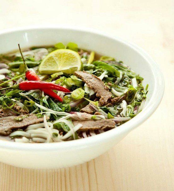 Pho bo soup | things I want to eat | Pinterest