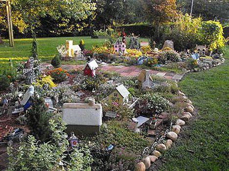 front yard miniature garden village