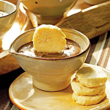Chocolate-Espresso Pots de Crème with Benne Seed Coins | Recipe