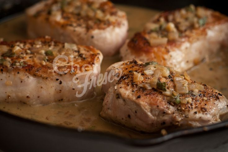 Pork Chops with garlic sage butter. Delish! | Nom, Nom, Nom ...