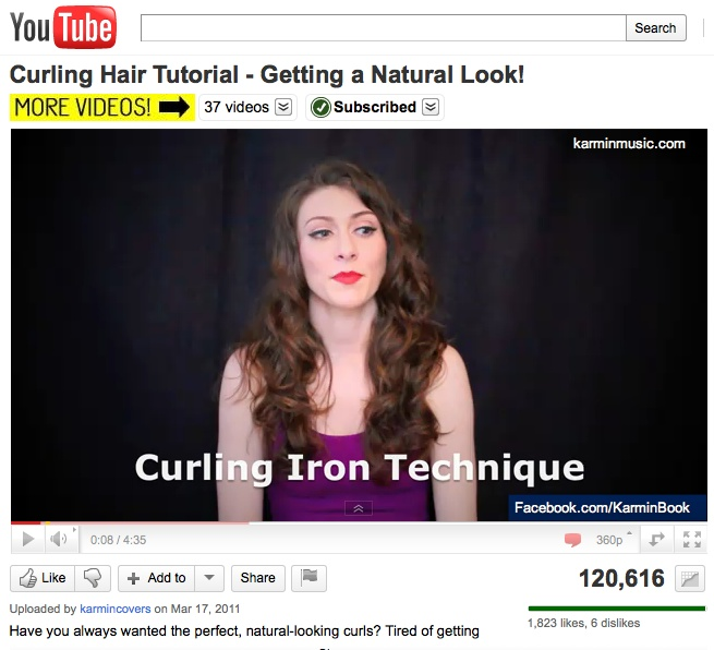 Amy from Karmin does a hair tutorial for getting great curls - http