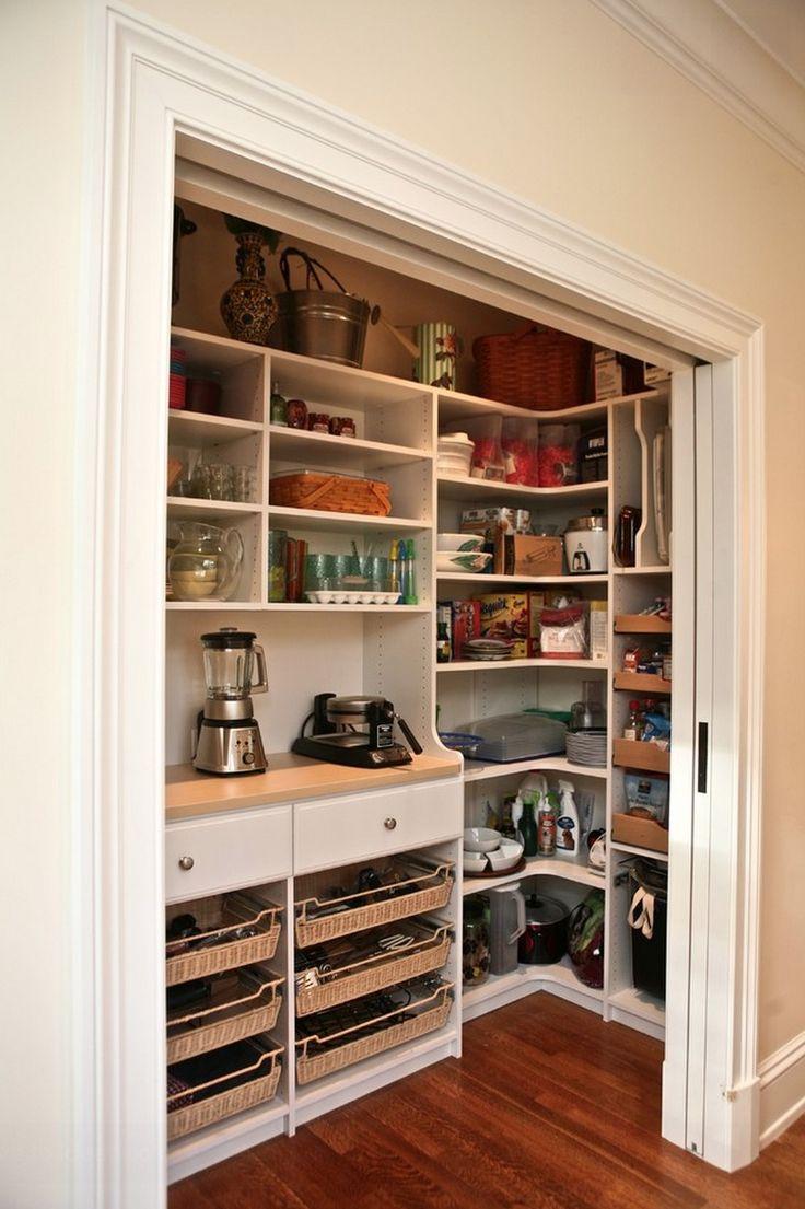 Pantry behind sliding doors summer home pinterest for Sliding pantry doors