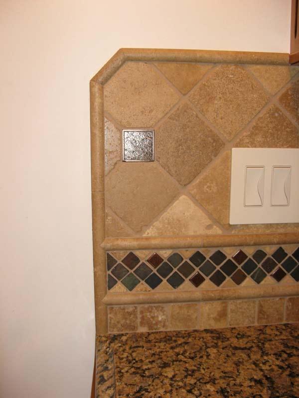 tile backsplash edges and accents kitchen backsplash
