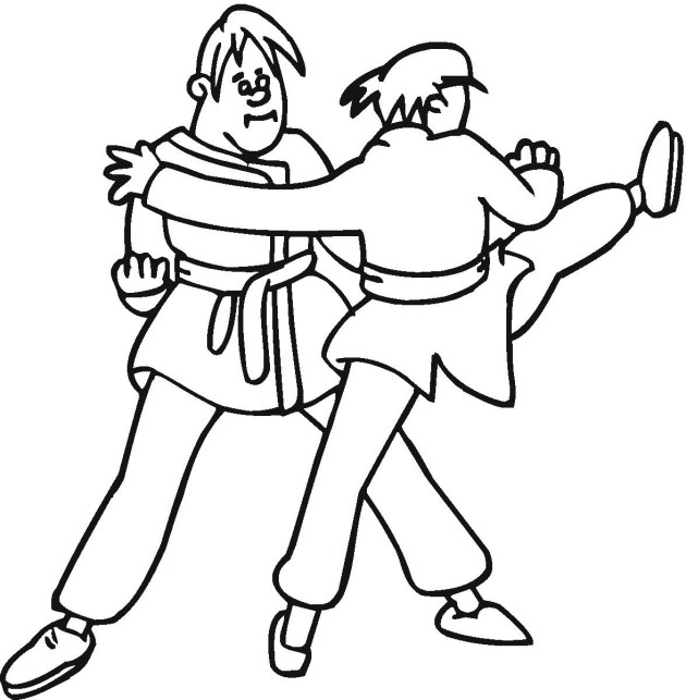 Coloring Pages Karate Kid For Kids Fun Cool Budo Stuff