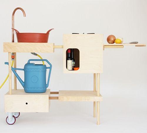 Portable outdoor kitchen for garden 39 s sake pinterest for Mobile outdoorkuche