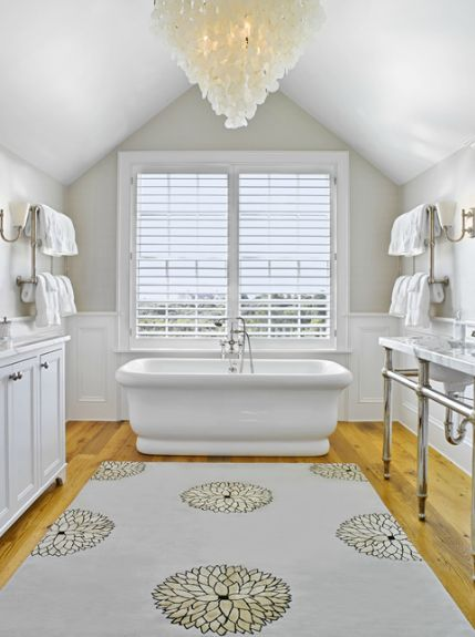 Kathleen Hay Design Gorgeous Master Bathroom Design With Gray Yellow Da