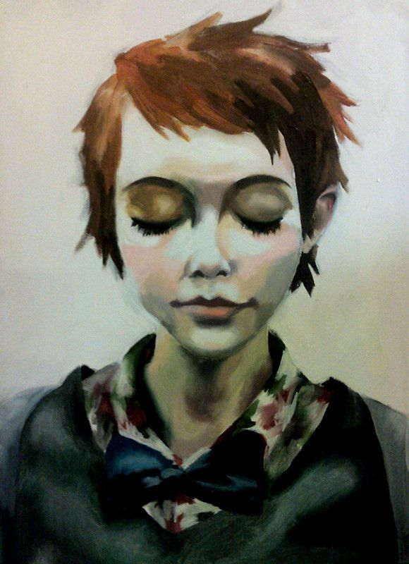 painting closed eyes | Close your eyes | Pinterest