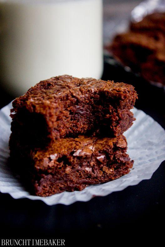 Double Chocolate Chunk Walnut Brownies Recipe ~ Soft, rich chocolate ...