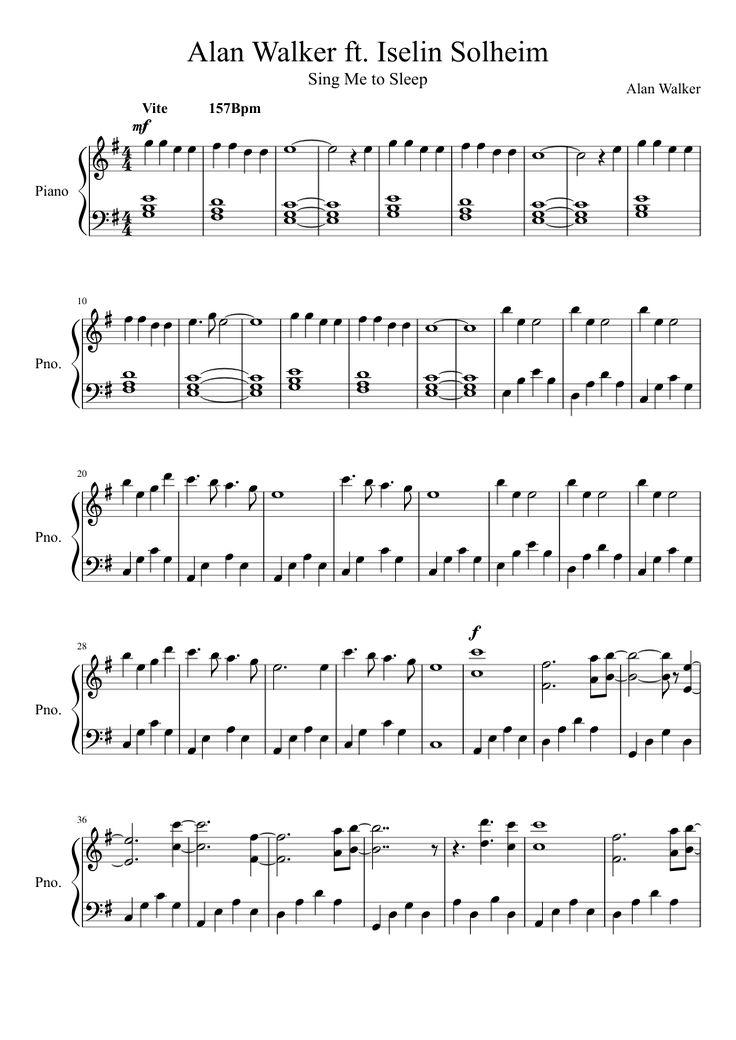 Faded klaviernoten